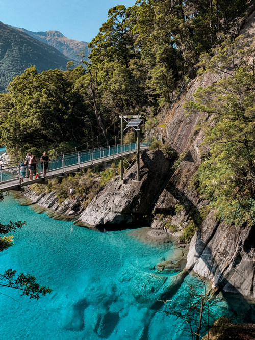 mount aspiring blue pools